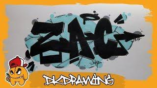 Graffiti Tutorial - How to draw graffiti names - Zac #38