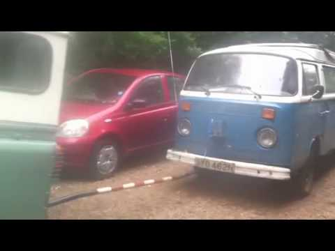 VW T2 Devon camper being recovered