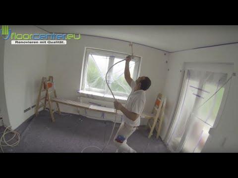 Decke Tapezieren Vliestapete Malervlies Glattvlies - YouTube - decke mit vliestapete tapezieren