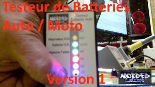 Testeur batterie auto/moto facile