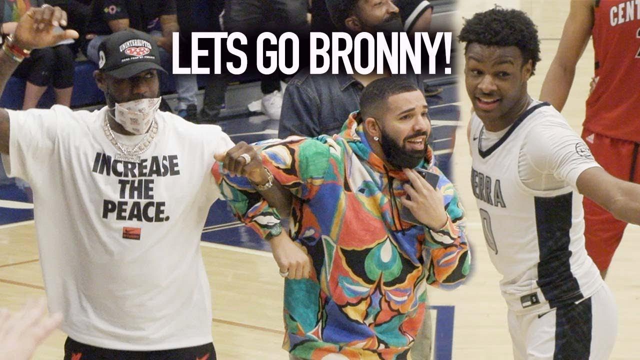 Download Bronny's BACK! LeBron & Drake Can't Believe Amari Bailey Dunked On Defender!