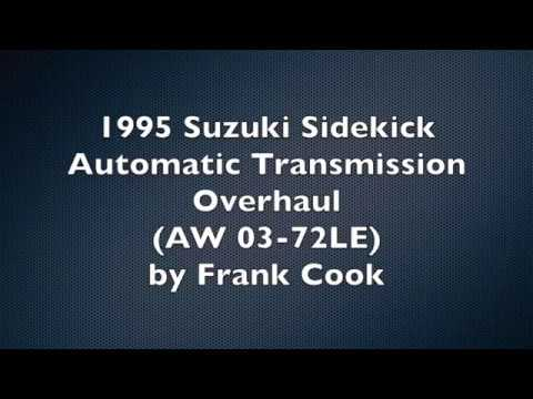 Фото к видео: 1995 Suzuki Sidekick Transmission Overhaul AW 03-72LE (A44DE)