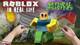 REALISTIC ROBLOX - SURVIVE THE ROBLOX DISASTER - Tsunami Roblox In Real Life Animation