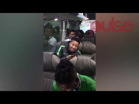 Super Eagles Players Singing Nigerian Gospel Song On Team Bus   Pulse TV