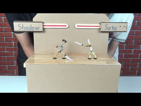 Make SHADOW FIGHT 2.0 Game from Pencil and Bamboo | SHADOW FIGHT in Real Life