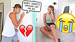 CRYING WITH THE DOOR LOCKED! *PRANK*