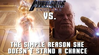 Thanos will easily defeat Captain Marvel in Endgame (Avengers Theory)