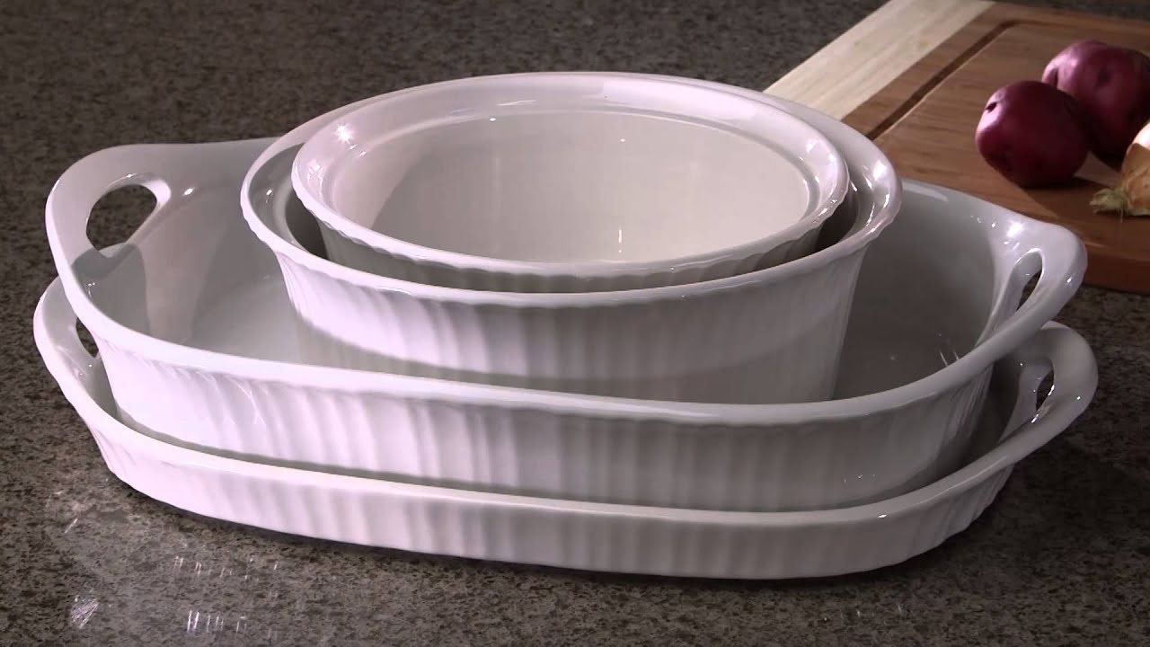 Corningware - French White® 1.5 Quart Round Casserole With Lid - YouTube : corelle french white dinnerware - pezcame.com
