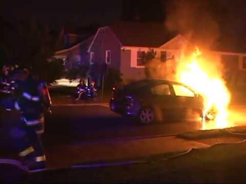 Maywood,nj Fire Department Car Fire