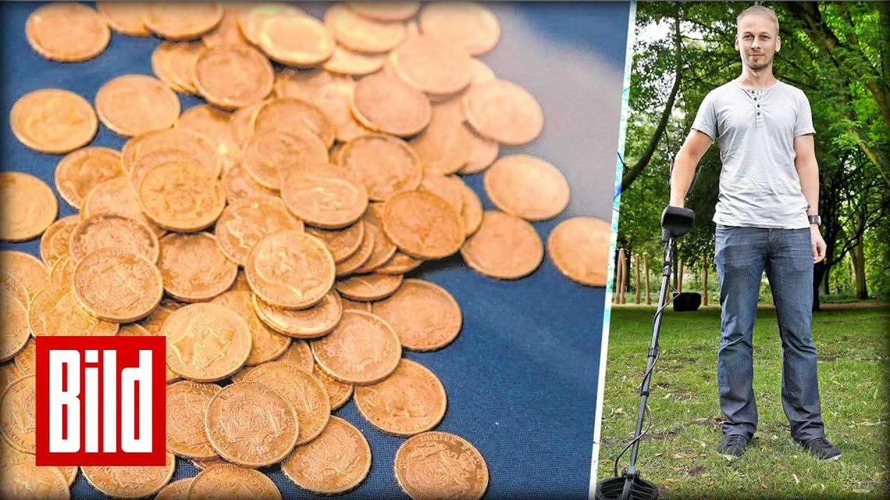 Nazi Gold Hobby Forscher Findet Den Schatz Münzen Hakenkreuz