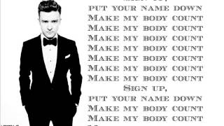 Justin Timberlake - Body Count ( Lyrics On Screen ) 2013 ( The 20 / 20 Experience )