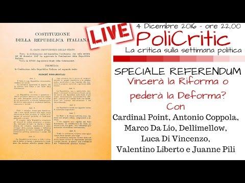 SPECIALE REFERENDUM: LO SPOGLIO | Vincerà la Riforma o perderà la Deforma? - #PoliCritic n.11