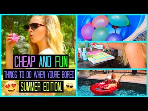 CHEAP and FUN Summer DIYS, GAMES, AND ACTIVITIES!