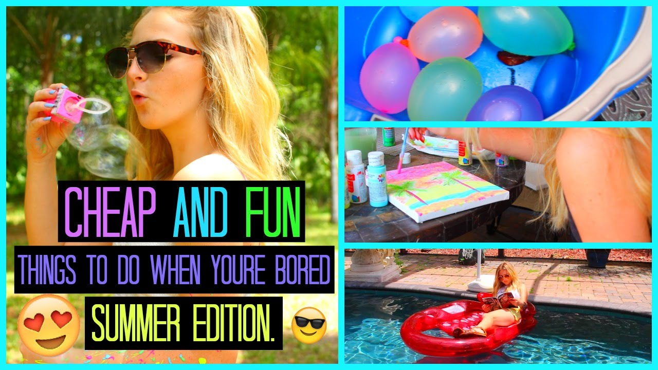 Cheap and fun summer diys games and activities youtube for Diy projects to do with friends