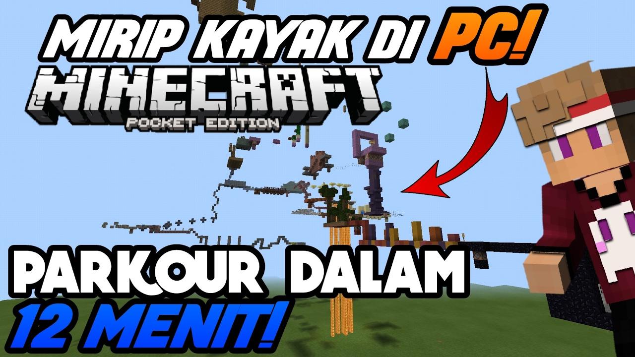 12 MENIT PARKOUR! - Minecraft Pe Map Showcase #4 - THE DROP PARKOUR MAP  (MAP NYA MIRIP KAYAK DI PC!)