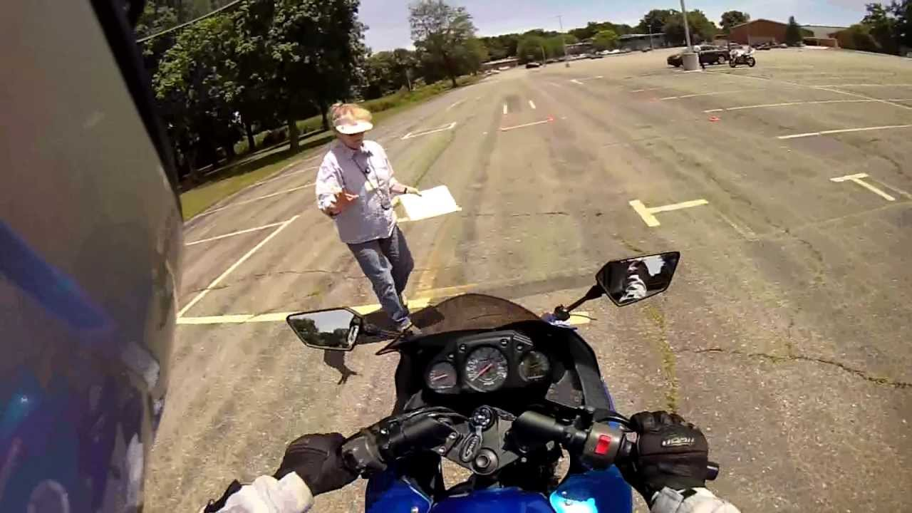 Pov Motorcycle Skills Test Passed