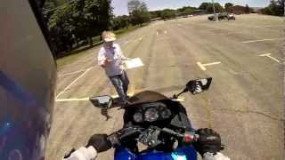 POV Motorcycle Skills Test  PASSED