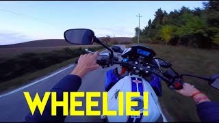 wheelie test honda cb 500 friend s bike