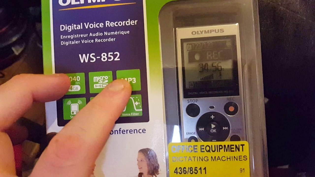 Olympus Digital Voice Recorder  WS-852  EVP  Ghost recorder!