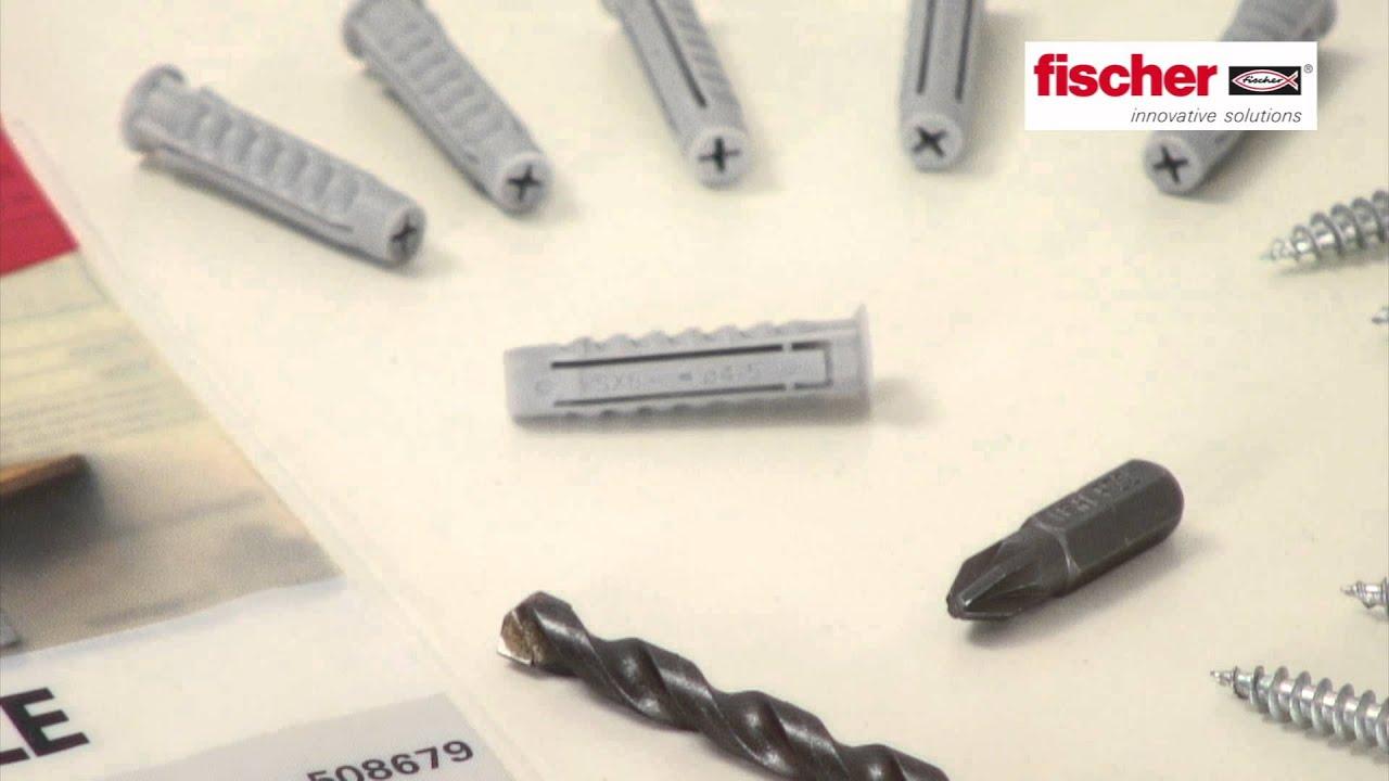 Mettere mensole con Fischer - YouTube