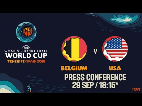 Press Conference - Belgium v USA - Semi-Final