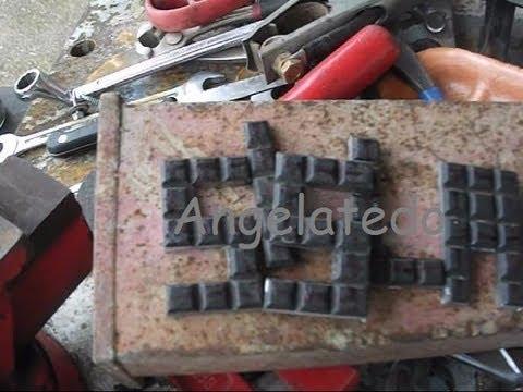 Cómo hacer letras de hierro fundido, cortadas con radial o amoladora.