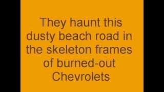 Thunder Road with lyrics - Bruce Springsteen