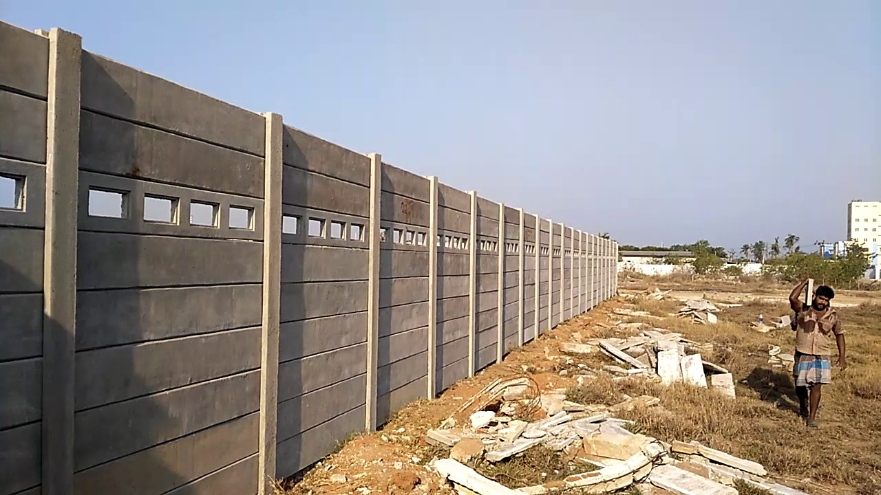 Low Cost Low Budget Compound Wall Rcc Compound Wall Just