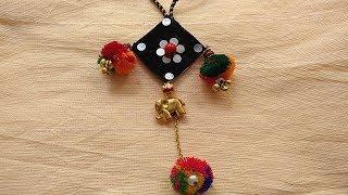 DIY Necklace How to make Navratri Jewellery/Ornaments I Navratri Craft