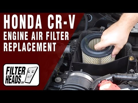 How To Replace Engine Air Filter 2005 Honda Cr V L4 2 4l Youtube