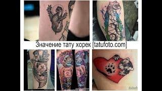 Значение тату хорек - факты и фото для сайта tatufoto.com