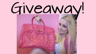 (CLOSED) Lady Gaga Customized Studded Bag Hot Pink Purse Giveaway!
