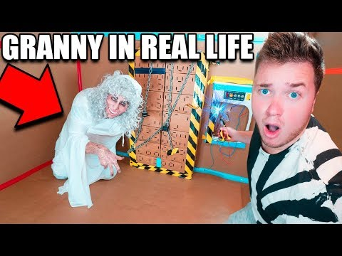 GRANNY HORROR GAME IN REAL LIFE!! ESCAPE THE BOX FORT CHALLENGE