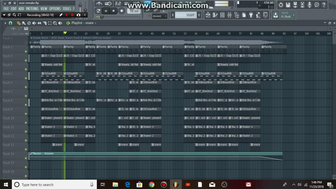 Fefe 6ix9ine ft. Nicki minaj flp fl studio remake (free flp.