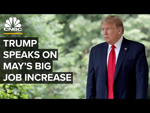 Trump speaks after employment stunningly rose by 2.5 million in May ⁠— 6/5/2020