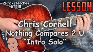Chris Cornell-Nothing Compares 2 U-Intro Solo-Guitar Lesson-Tutorial-How to Play-Tabs