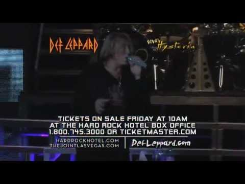 DEF LEPPARD - VIVA Hysteria! at Hard Rock Hotel, Las Vegas (March 22 through April 10, 2013)