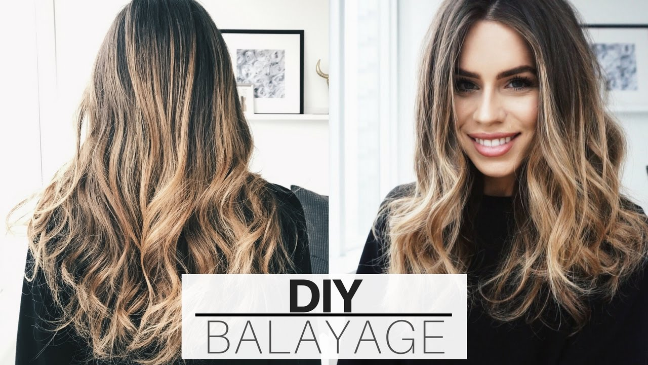 DIY: $20 At Home Hair Balayage + Ombre Tutorial (UPDATED) | Ad - YouTube