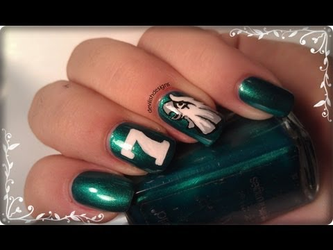 Eagles Football Nail Art  YouTube