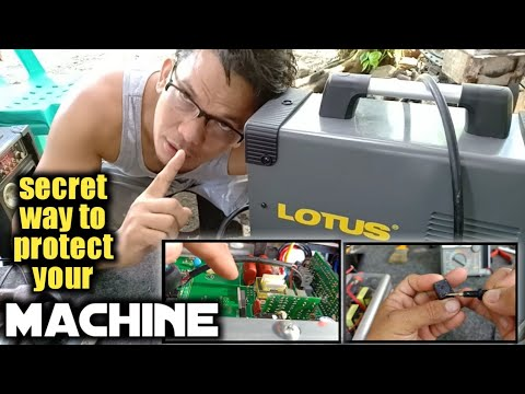 """LOTUS"" Inverter welding machine,isang paraan para tumibay!! one way to protect your welding machine"