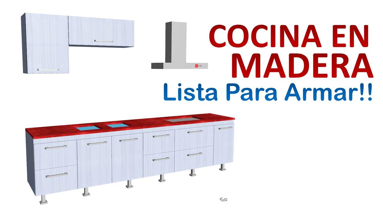 C mo fabricar muebles de cocina dise o y planos youtube for Muebles de diseno
