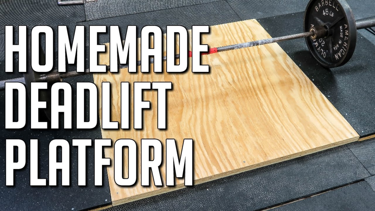 How To Make A Portable Deadlift Platform Diy Weightlifting Platform