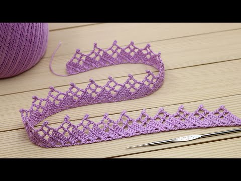 Видеоурок вязания каймы крючком