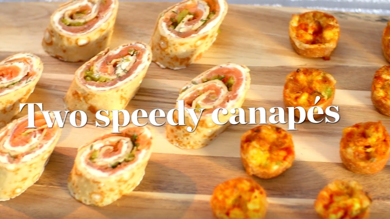Two speedy canap recipes ready in 30 minutes youtube for Canape recipes