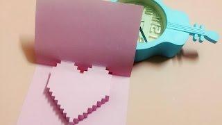 Làm thiệp 3D trái tim handmade đơn giản - NGOC VANG