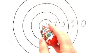 KINDER DARTS! Hit the target!