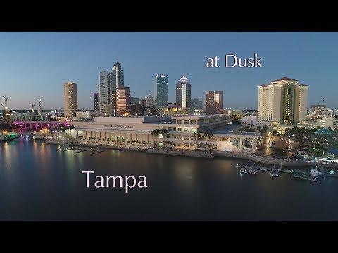 Tampa At Dusk - Tampa Aerial Photographers
