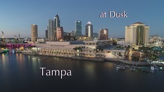 Tampa at Dusk - Tampa Aerial Photographers