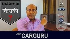 Best Car Service, CARGURU about Service Center Survey, Ford, Renault, Honda, Toyota & Volkswagen