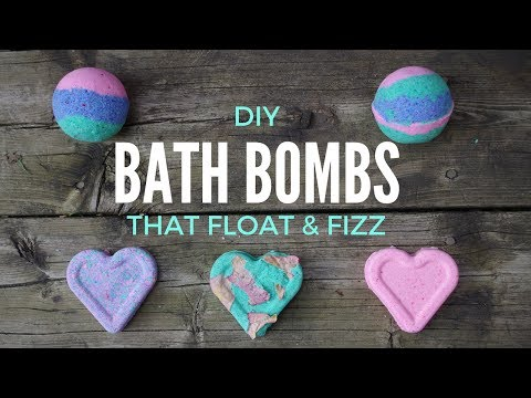 DIY BATH BOMBS THAT FLOAT AND FIZZ ♥ quick and easy tutorial + DEMO